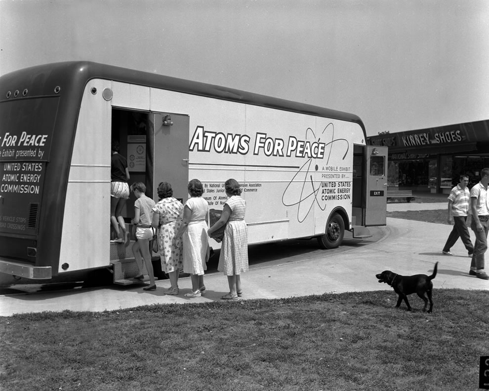 Atoms For Peace Traveling Exhibit in Oak Ridge 1957