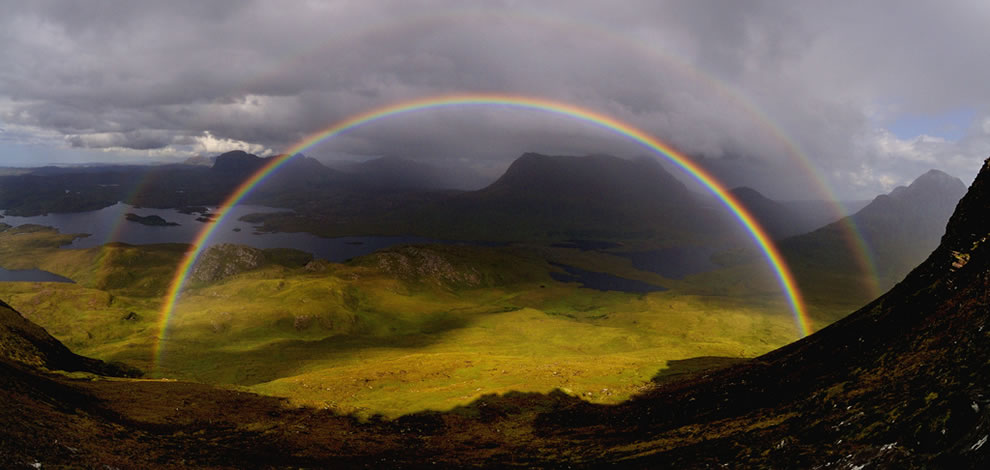 Double rainbow over Scotland