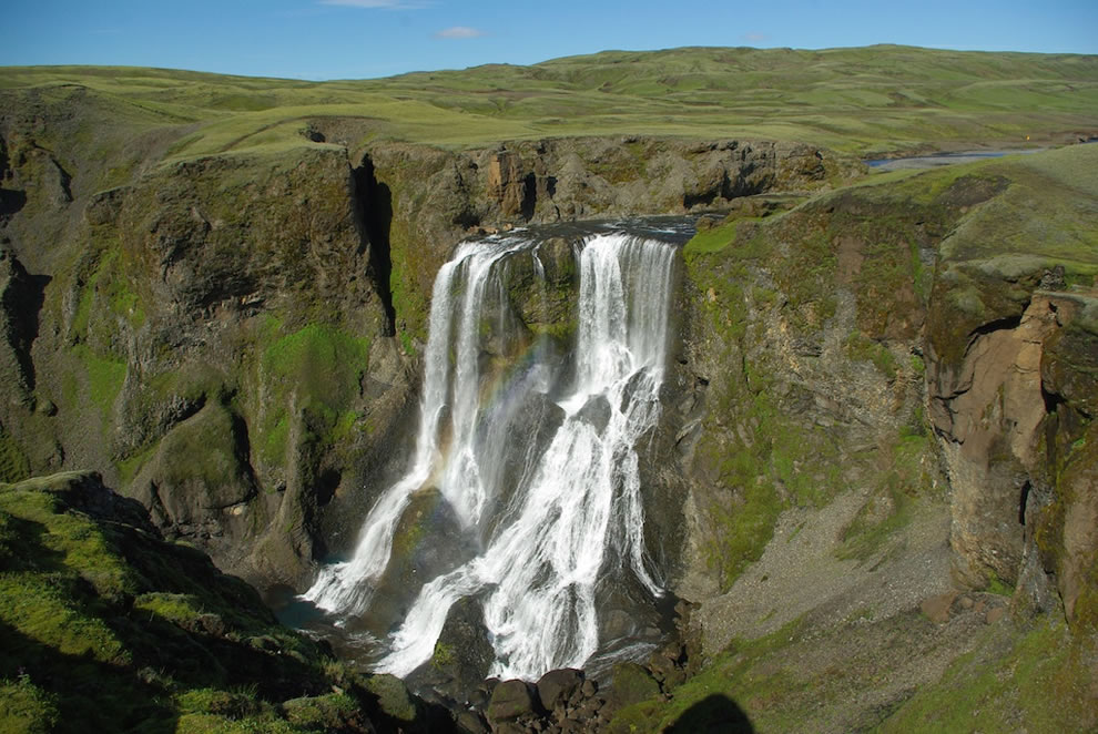 Fagrifoss waterfall
