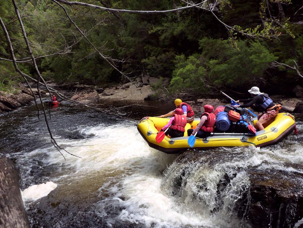 Franklin River, Tasmanian Wilderness World Heritage Area on rafting Day 1