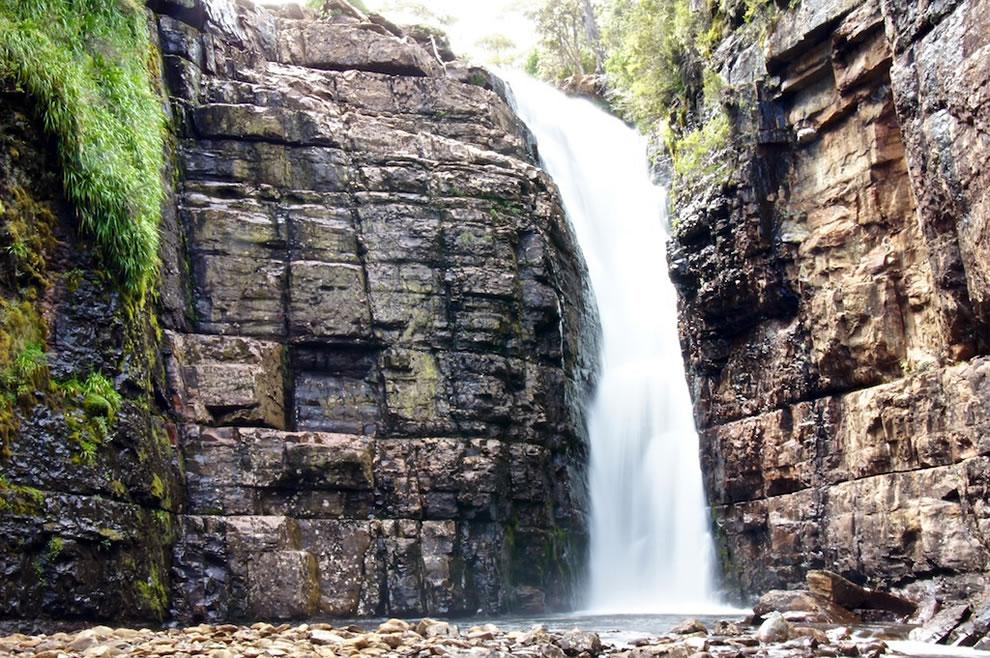 Hartnett Falls at Walls of Jerusalem National Park in the Tasmanian Wilderness