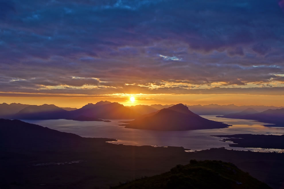Lake Pedder sunset, Southwest National Park, a part of Tasmanian Wilderness World Heritage Area