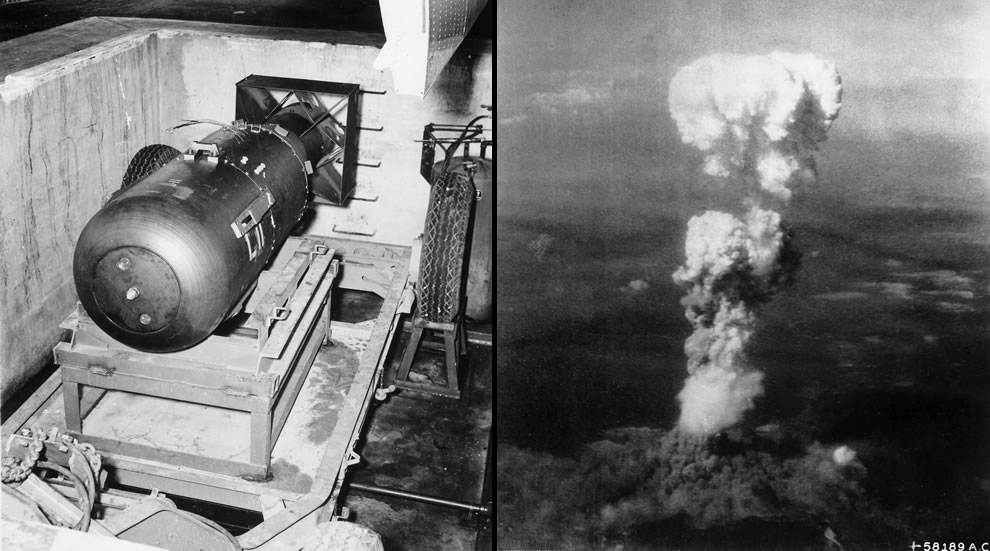 Little Boy atomic bomb made in Oak Ridge and dropped on Hiroshima