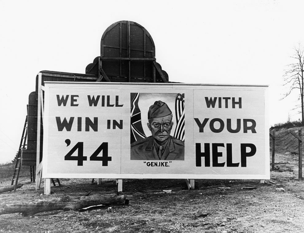 Oak Ridge Tennessee 1944 General Ike War Billboard