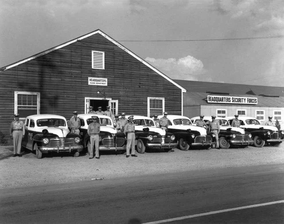 Police Department – Car Lineup Oak Ridge Tennessee 1945