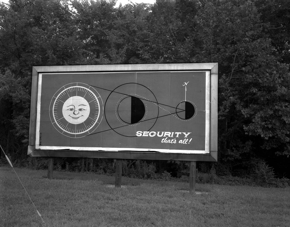 Security Billboard Aug. 1970 Oak Ridge Tennessee
