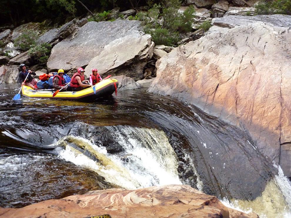 Tasmanian Wilderness World Heritage Area -- The Faucet, Day 5 rafting on Franklin River, Tasmania