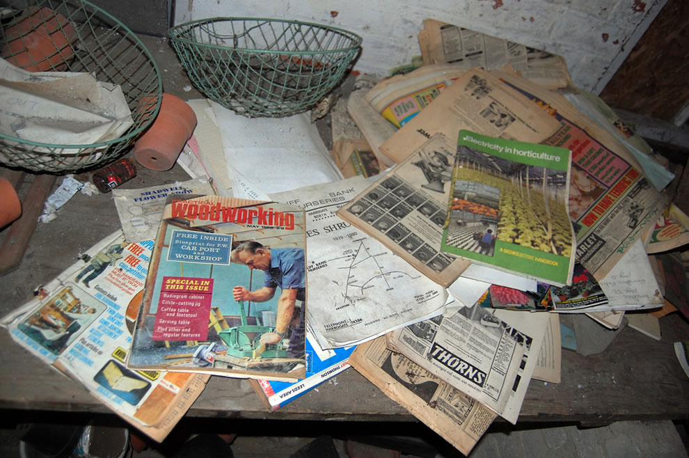 1960s magazines in Derelict Eastmoor Reformatory for Boys