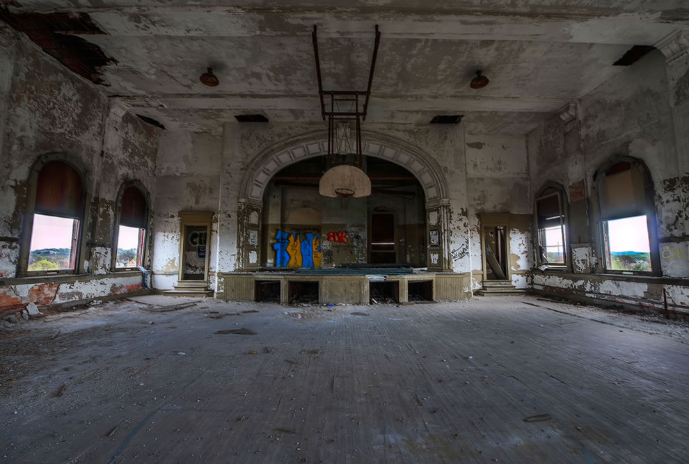 Abandoned School Gym in East Liberty, Pittsburgh