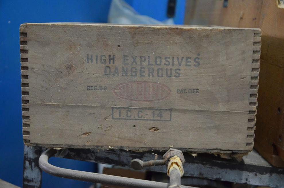 Dangerous, dusty High Explosive case at St Edwards Catholic School