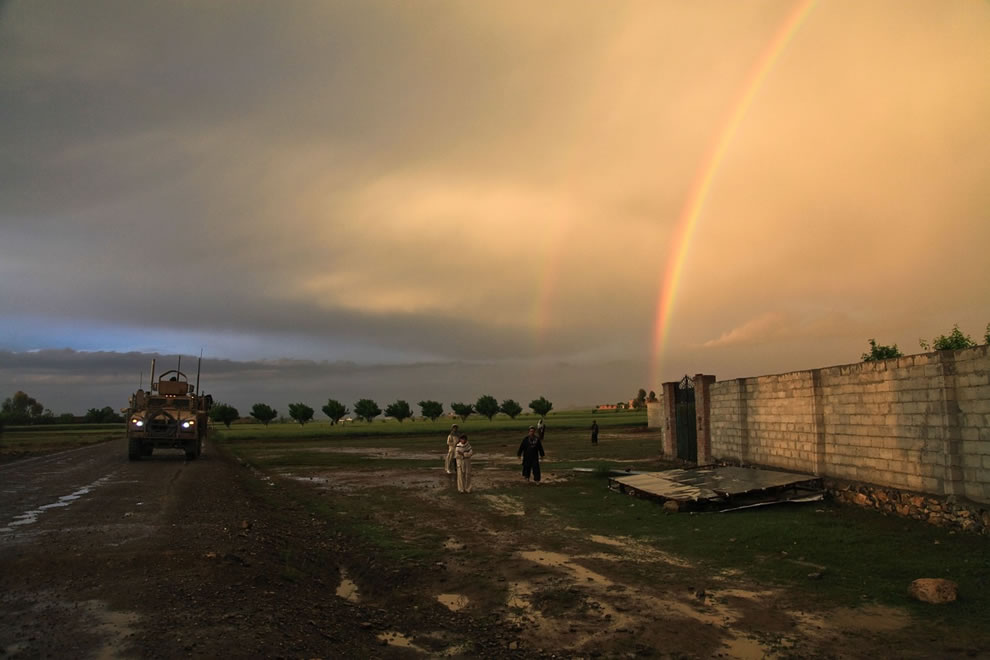 Double Rainbow over US Army in Afghanistan