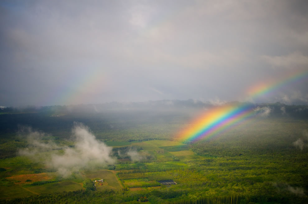 Double and Supernumerary Rainbow over Hawaii