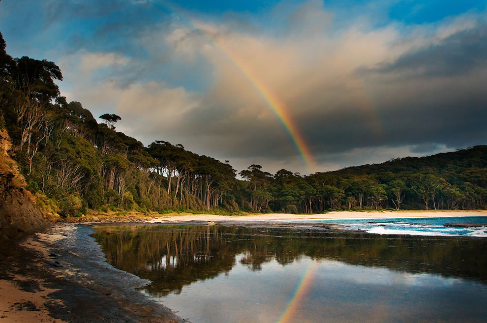 Double rainbow reflections NSW Australia