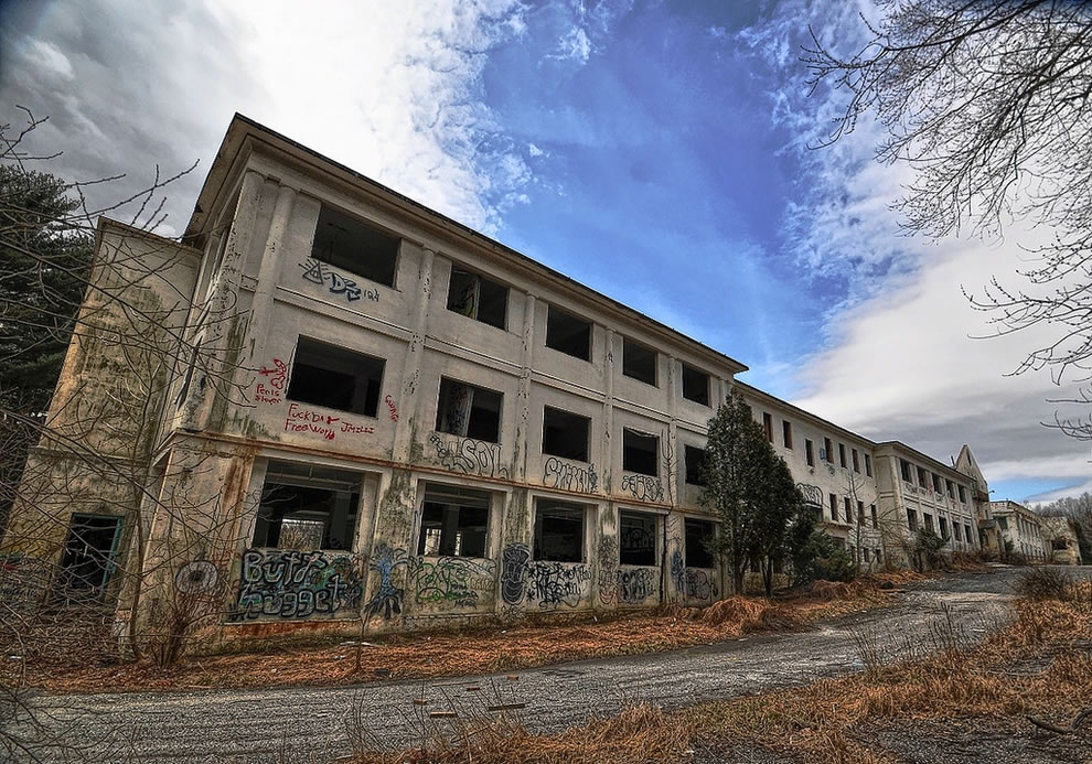East wing at Rosewood State Training School, an asylum and training school for the feeble-minded, abandoned since 2009