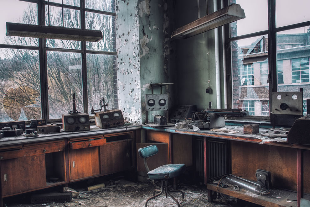 Forgotten university laboratory in Belgium