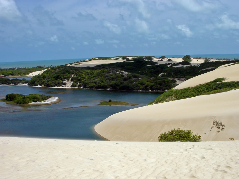 Genipabu dunes and white sand beaches, near Natal, Rio Grande do Norte, Brazil
