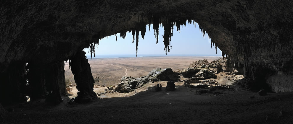 Inside Dogub cave, southern Socotra