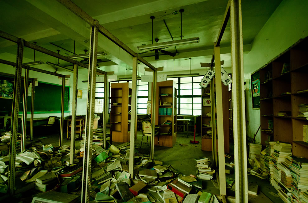 Inside Taiwan ruins of abandoned Chianan Home Economics Vocational High School