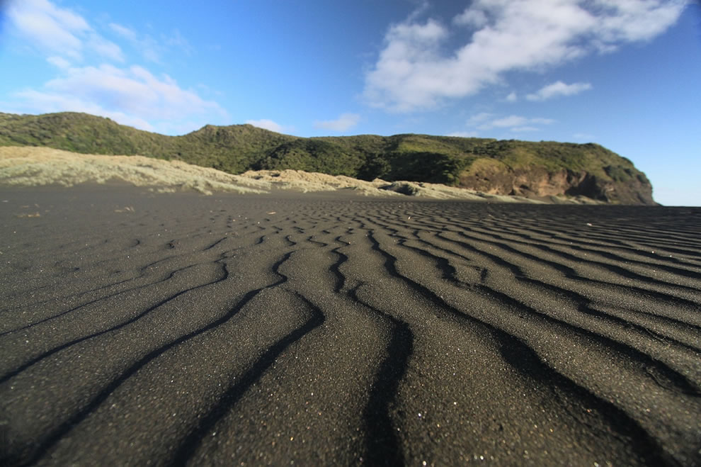 Patterns in the Black Sand on Karekare Beach