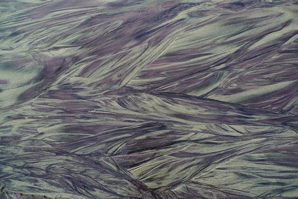Purple sand pattern at Pfeiffer State Beach