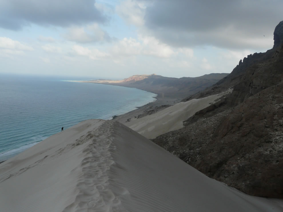 Sand dunes of Arar, east of Socotra island