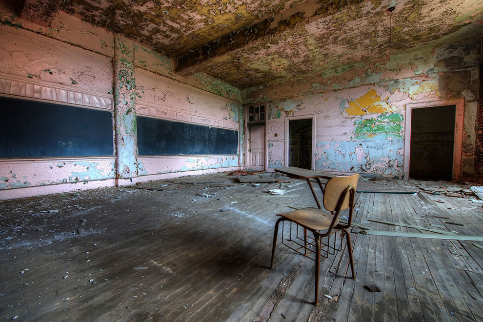 Schools out for summer, schools out forever, Abandoned School Classroom
