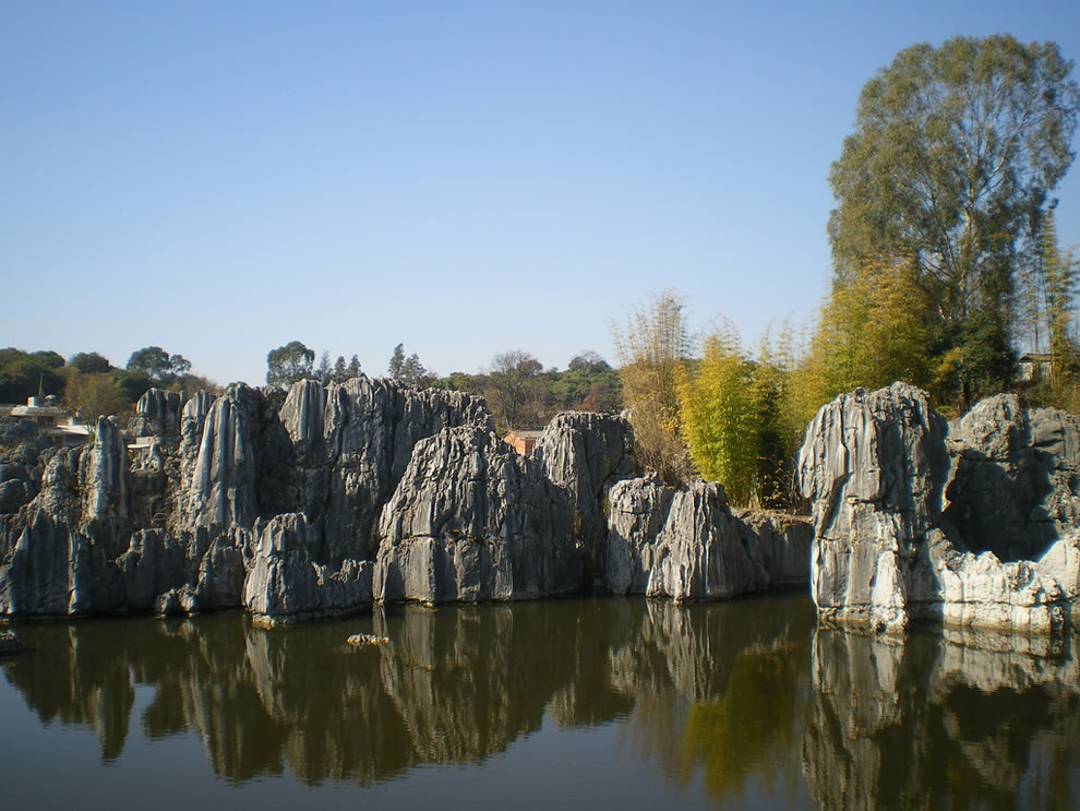 Shilin Stone Forest pond