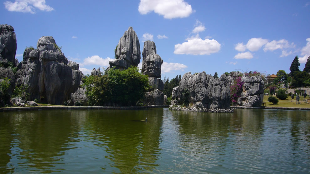 Stone Forest Pond at Shilin