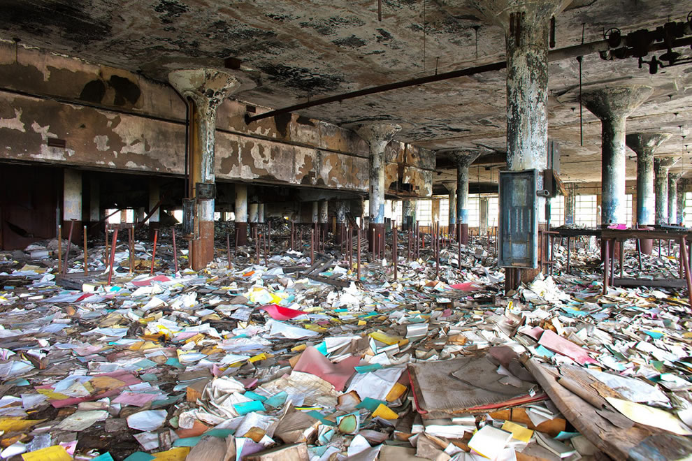 The Detroit Public Schools Book Depository has been abandoned since a fire struck the building in 1987