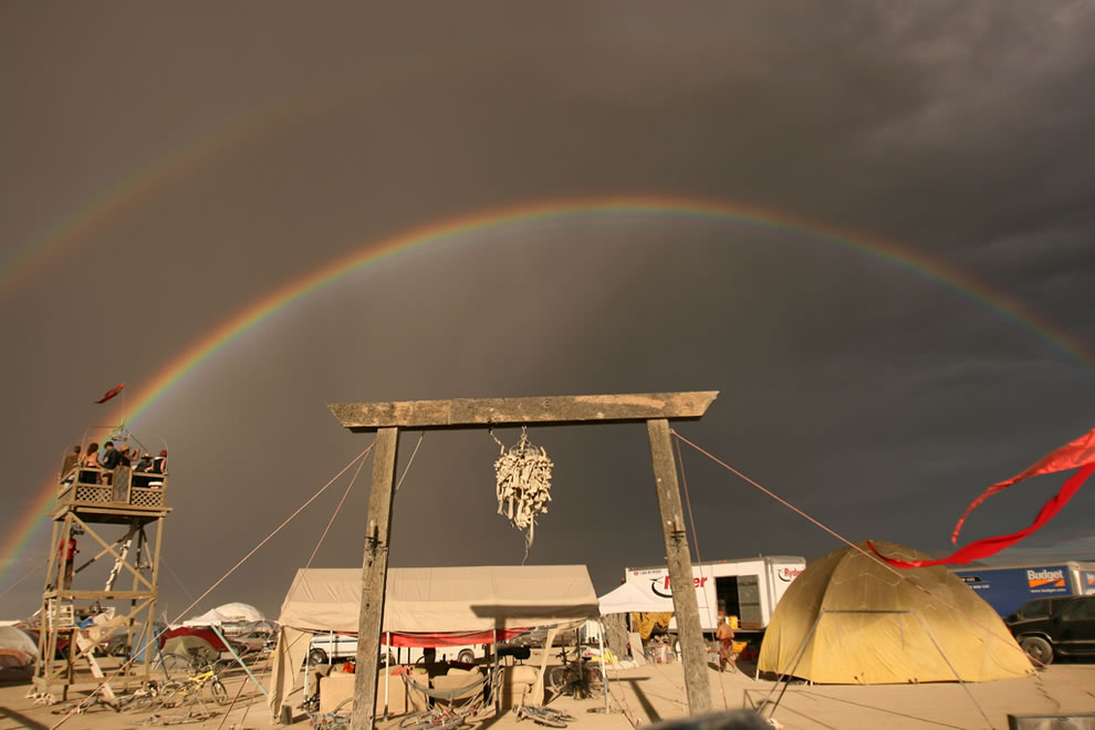Burning Man double rainbow, This was one of the greatest moments of my life