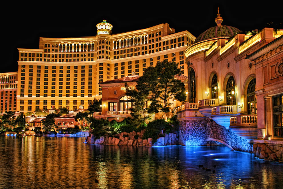 Bellagio Casino and Hotel at Night