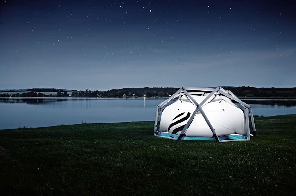 Camping in the cave tent