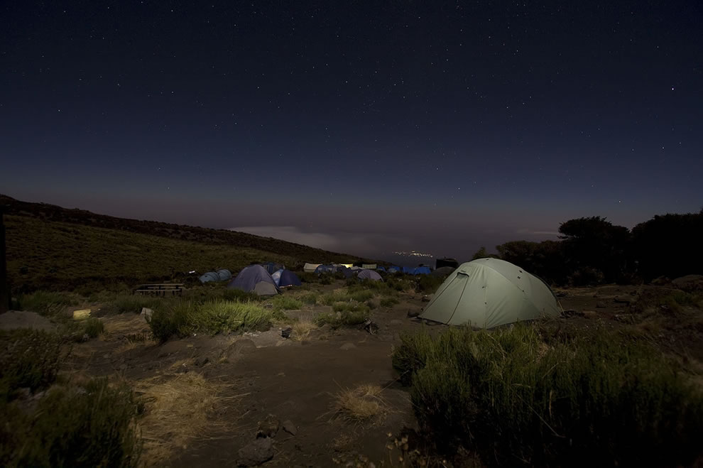 Kikelewa Camp at 12,070 ft (3679 m) in Kilimanjaro National Park, Tanzania