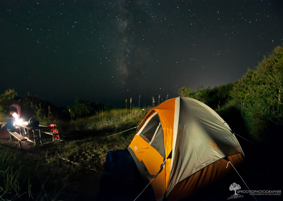 Milky Way View during camping excursion on the Outer Banks, Frisco, North Carolina