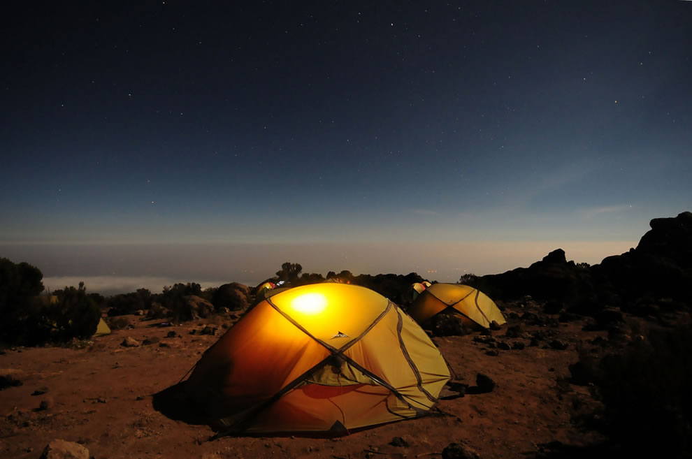Pofu Camp - Northern Circuit, at 13,200 ft (4,025 m) up Mount Kilimanjaro Trek