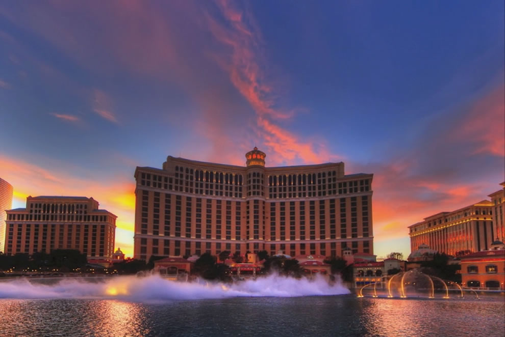 Timelapse Bellagio Fountain, Las Vegas