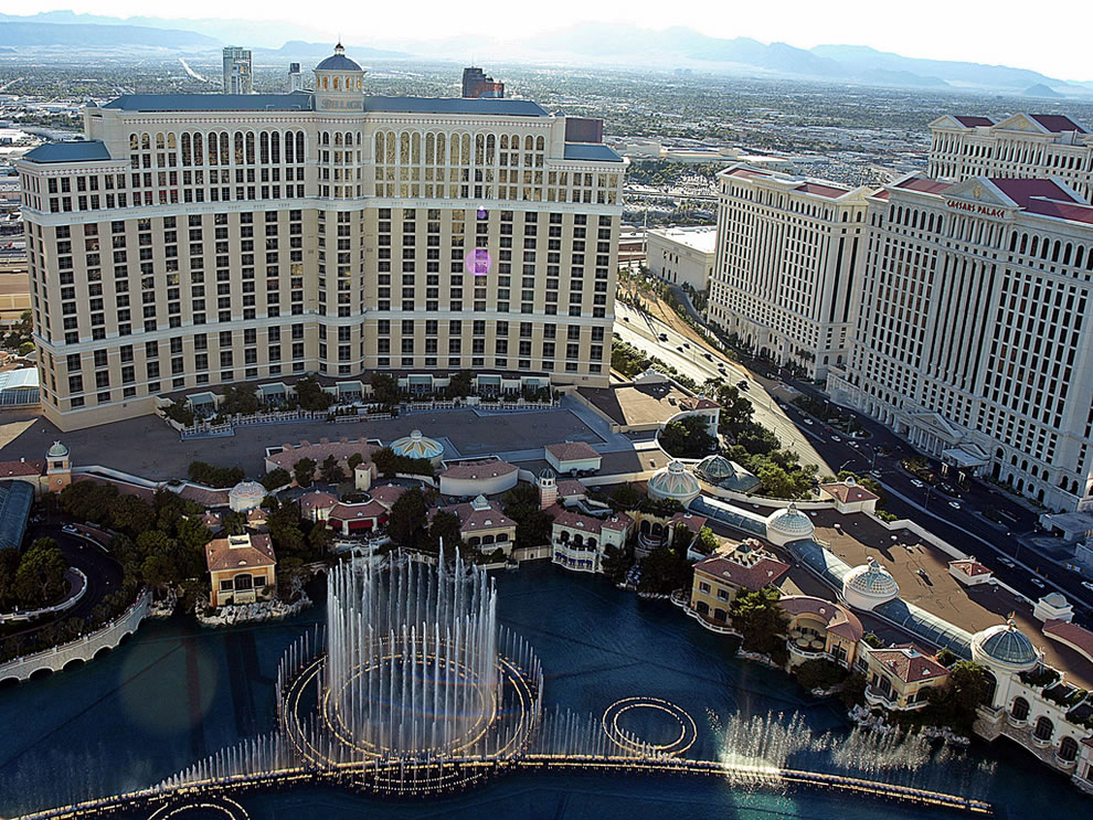 View was worth the wait to see the Bellagio Fountains from above