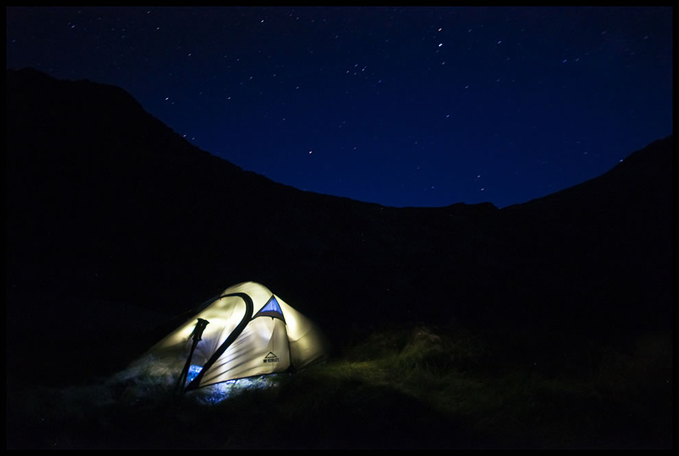 When night comes, camping under the stars of  Pyrenees, France