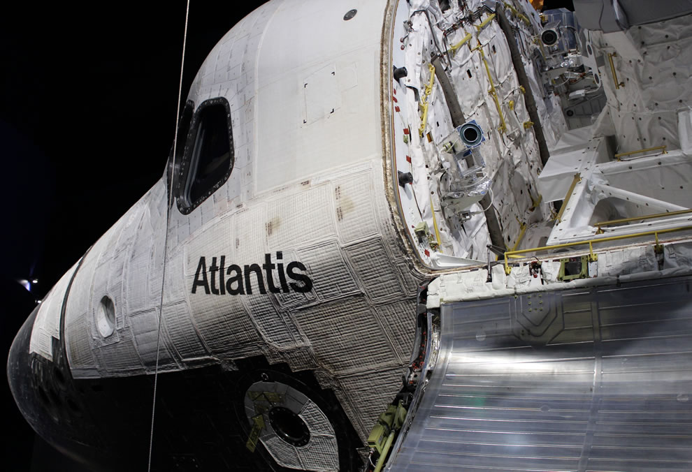 Front of Atlantis Space Shuttle