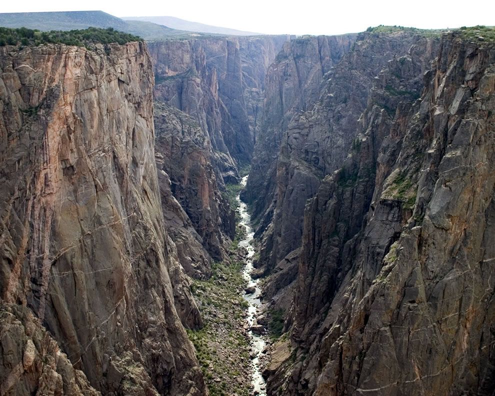 Inner canyon area at Black Canyon of the Gunnison National Park, Colorado, USA, Black Canyon of the Gunnison National Park