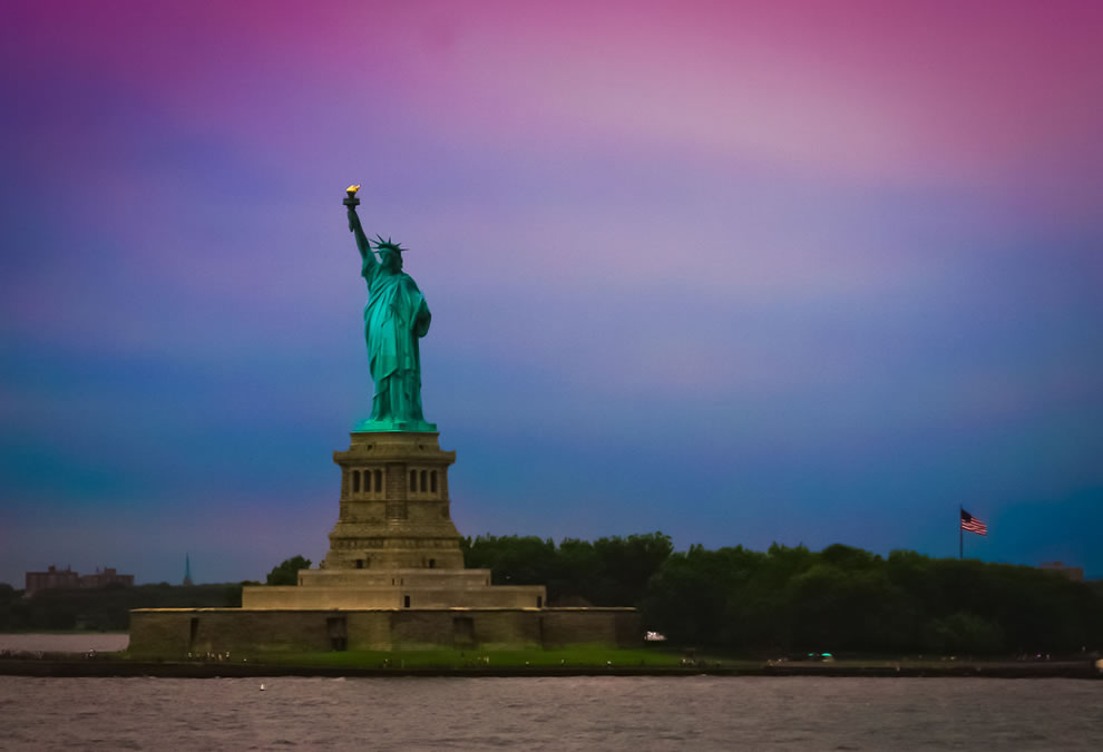 Lady Liberty, designed by Frédéric Auguste Bartholdi and dedicated on October 28, 1886