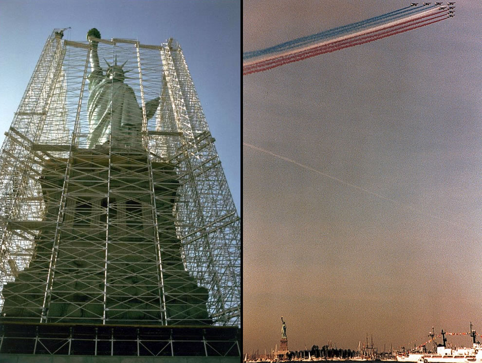 Lady Liberty face lift, then celebrates 100 years old