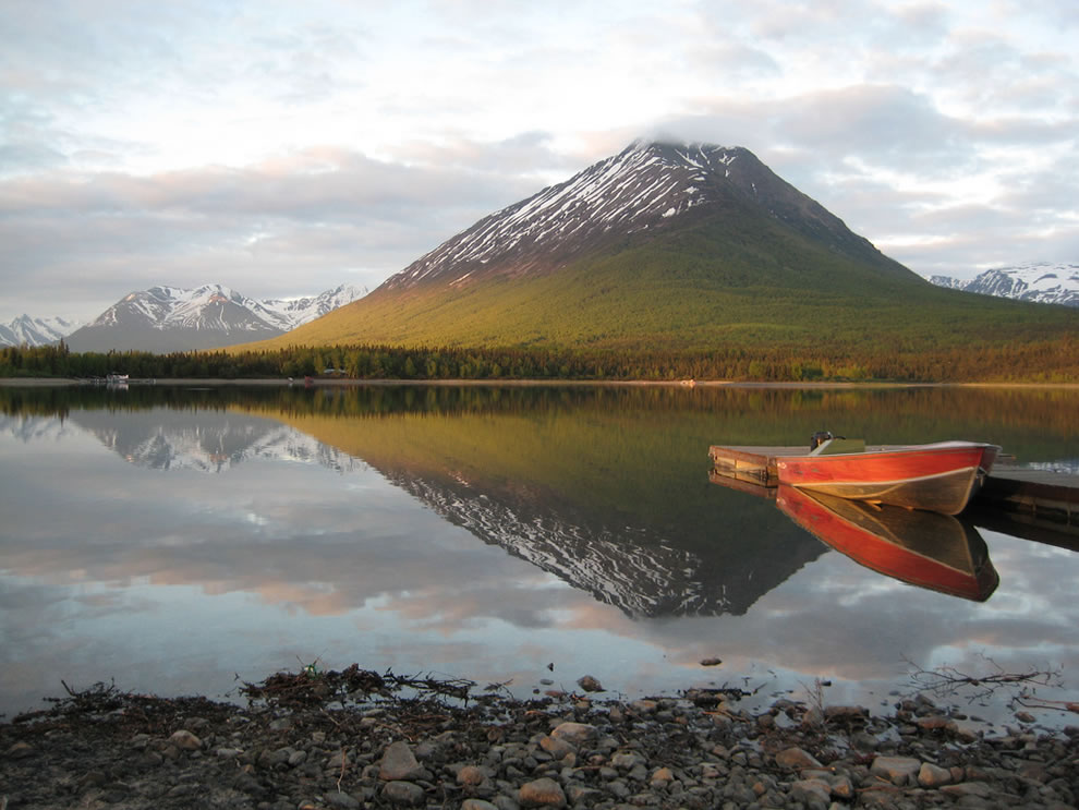 Lake Clark National Park & Preserve's 4 million acres encompass rugged mountains, glacial ice, placid lakes, coastal beaches and salt marshes, active volcanoes, dense forests, alpine tundra
