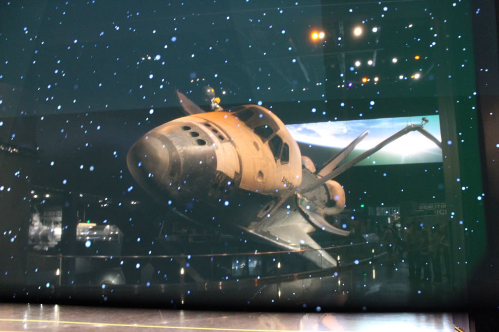 Moments before getting up close and personal with Atlantis Space Shuttle