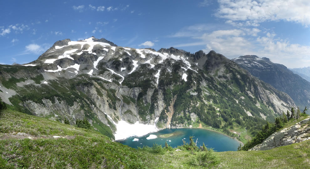 Sahale Mountain and Doubtful Lake in the North Cascades National Park