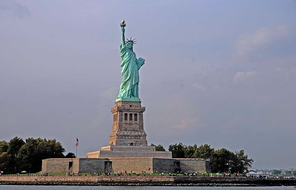 The beaten copper clad figure known as the Statue of Liberty is actually called 'Liberty Enlightening the World'