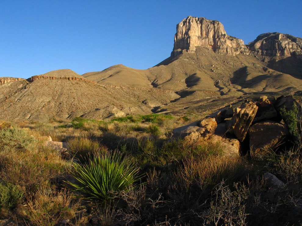 Towering Sentinel El Capitan at Guadalupe Mountains National Park