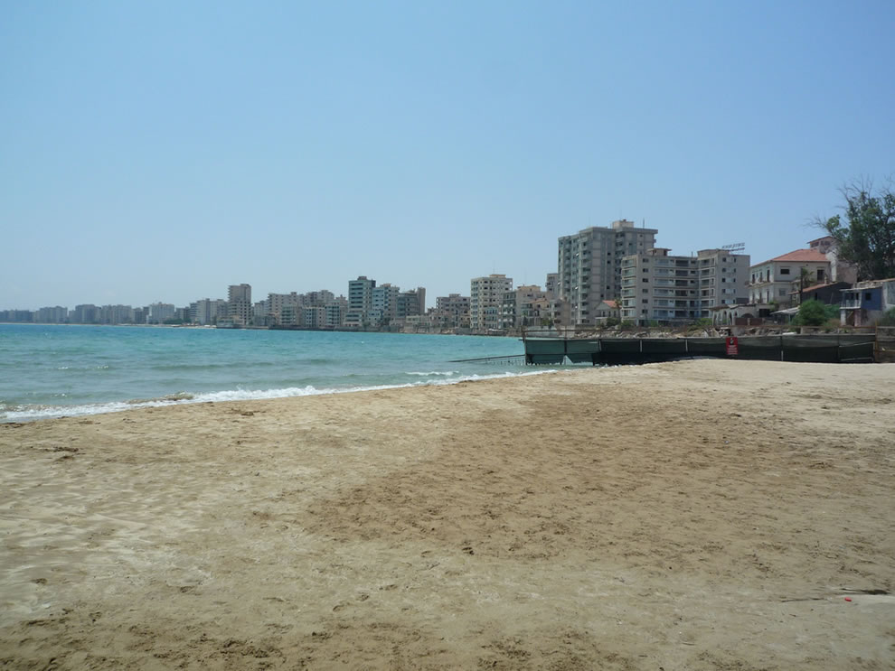 Ghost town Varosha beach resorts