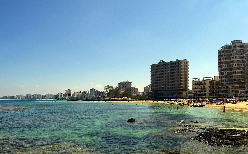 Varosha, once a popular and modern tourist hotspots in Famagusta, Cyprus, is now a crumbling ghost-city