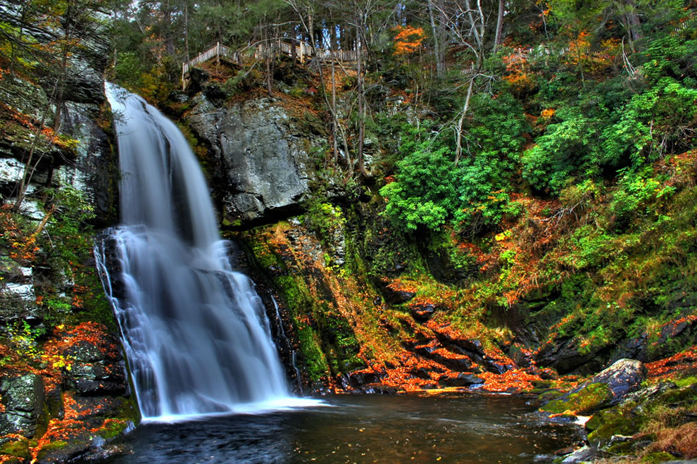 Autumn at Bushkill  Falls, the Niagara of Pennsylvania